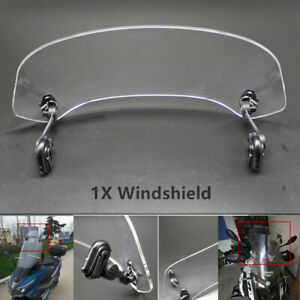 Adjustable Motorcycle Bike Heighten Windshield Front Windscreen Acrylic Clear