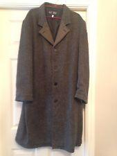 Armani Mens Wool Overcoat Size 42 Chest Herribone Pattern REDUCED Ebay Bargain