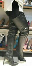 13 Crotch,Thigh High Boots Faux Leather Black Boots (11 Men, Euro 45), 35 INCH