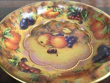 Daher Decorated Ware metal bowl Fruit Design made in England 1971 vintage