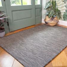 Plain Graphite Gray Outdoor Rug Plastic Flat Washable Rugs Zero Pile Hall Runner