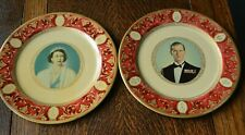 Great Portland Ware Metal Plate HRH Queen Elizabeth II & Duke Edinburgh 1953