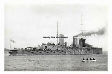 rp16727 - Royal Navy Warship - HMS Queen Mary , built 1913 - photograph 6x4