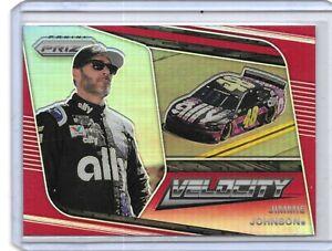 2020 PRIZM VELOCITY JIMMIE JOHNSON RARE RED PRIZM NASCAR RACING NICE CARD