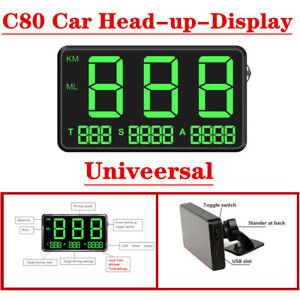 C80 Car Univeersal Head-up-Display Full Screen Speed Digital GPS Speedometer