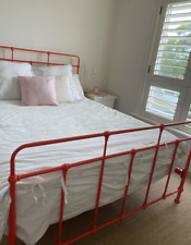 Bright Queen bed frame