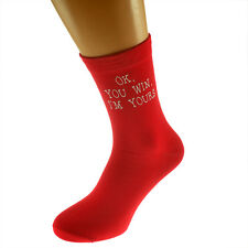OK You Win I'm Yours MENS SOCKS Romantic Lover Christmas Birthday Present Gift