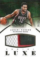 Jabari Parker 2014-15 Panini Luxe Basketball Jumbo 3-Clr Numbers Patch 18/25 RC