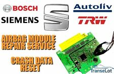 SEAT AIRBAG ECU SRS ECU AIRBAG MODULE CRASH DATA RESET REPAIR SERVICE
