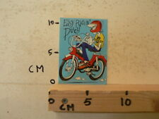STICKER,DECAL PUCH BROMFIETS MOPED VINTAGE EASY RIDIN PUCH