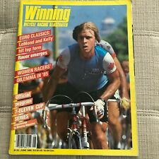 Winning Bicycle Racing Illustrated #23 June 1985, Steve Bauer, Vintage,