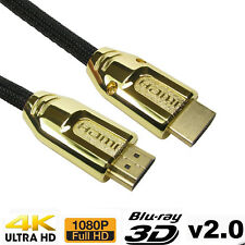 10m PREMIUM 4K HDMI CABLE 2.0 HIGH SPEED GOLD PLATED BRAIDED LEAD 2160P 3D HDTV