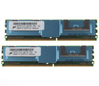 8G Micron 2x 4GB DDR2-667MHz 2RX4 PC2-5300F FB-DIMM ECC Server Memory RAM 240pin