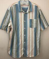 VANS  Collared Short Sleeve Button Down Shirt Size Men's 2XL