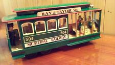 Vintage 1950's Japan 504 Municipal Railway Trolley Car Tin Friction Toy