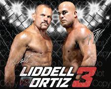 Chuck Liddell vs Tito Ortiz signed UFC 8X10 photo picture poster autograph RP 2