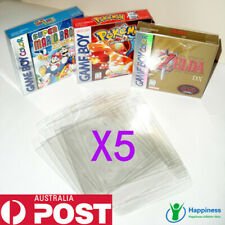 5x Thick GAME BOX PROTECTORS Cases Nintendo GameBoy / Color / Advance BOXED