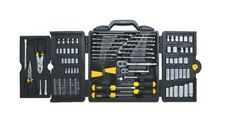 Stanley Mechanic Tool Set 150 Piece Wrenches Case Kit Sockets Ratchet Tools New