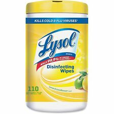 Lysol Sanitizing Wipes 110 Wipes/Tub 6/CT Lemon/Lime Blossom 78849CT