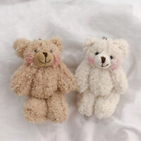 EY_ UK_ LT_ Cute Bear Animal Plush Doll Hanging Keychain Handbag Phone Pendant K