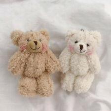 Cute Bear Animal Plush Doll Hanging Keychain Handbag Phone Pendant Keyring Grace