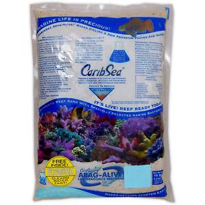CARIBSEA ARAGALIVE FIJI PINK LIVE SAND 10lb 20lb FISH TANK MARINE AQUARIUM