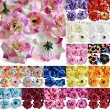 50pcs Artificial Silk Rose Flower Heads Bridal Wedding Favour 5x3cm 30 Colours