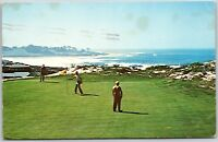 Vintage CA Hole #5 Spyglass Hill Golf Course Pebble Beach California Postcard A7