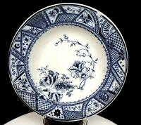 "VERREVILLE POTTERY SCOTLAND EMPRESS BLUE TRANFERWARE 9 7/8"" SOUP BOWL 1846-1918"