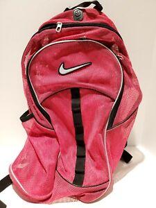 Q1 Nike Mesh 'See Through' School Gym Backpack PINK