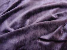 One yard KRAVET Soft VELVET EXTRAVAGANT Violet purple UPHOLSTERY FABRIC BTY