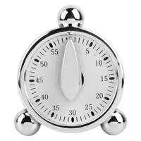 White Round 60-Minute Mechanical Timer Reminder Counting for Kitchen Novelty