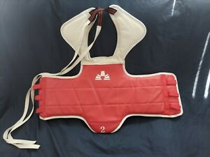Taekwondo Karate Reversible (Red/Blue) Chest Guard/Body Armor/Protector Size #2