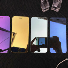 Colored Mirror Tempered Glass Film Screen Protector For iPhone 6 7 8 X Plus