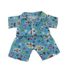 """BLUE CUTE TEDDY PJS PYJAMAS TEDDY CLOTHES FITS 15""""-16"""" (40CM) BUILD A BEAR"""