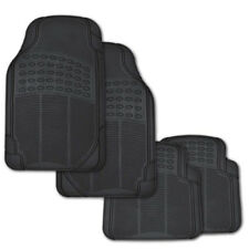 Anti-skid Car Floor Mats for All Weather Rubber 4pc Set Semi Custom Fit