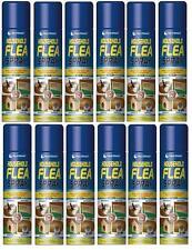 12 X 200ml Flea Killer Spray Cat Dog Pet Beds Kennels Carpets & Hutches New