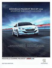 Publicité Advertising 098  2015   nouvelle Peugoet RCZ GT line