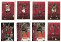 1999-00 Upper Deck MVP Michael Jordan Base + MJ Exclusives Card Lot x 8 Bulls