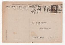 OSPEDALE POLICLINICO S. ORSOLA BOLOGNA VIAGGIATA 1943 FG #95