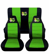 Flower Power Seat Covers fit 1998-2004 Volkswagen Beetle 12 Color Options