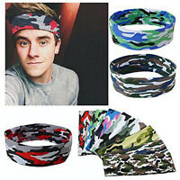 Sport Sweat Sweatband Unisex Headband Yoga Gym Stretchy Head Band Hair band