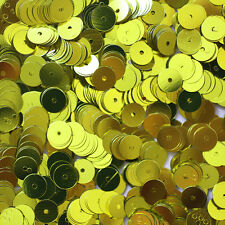 6mm Flat Loose SEQUINS PAILLETTES ~ Metallic YELLOW ~ Round Spangle