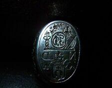 Wappen-Ring-Silber Hufeisen Kreuz Rosen Mann und Schiffsanker