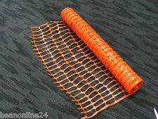 Safety Barrier Mesh Fence Orange - 1 metre high x 35m roll.
