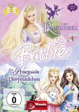 2 DVDs * BARBIE ALS: RAPUNZEL / BARBIE ALS DIE PRINZESSIN UND DAS DORFMÄDCHEN