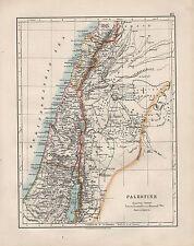 1909 Vittoriano mappa ~ Palestina ~ il balsamo di Giudea Samaria Galilea