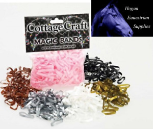 Cottage Craft Magic Plaiting Bands – 500 pack, Super Stretchy - VARIOUS COLOURS