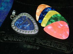 10.9 Grams Chrome Hearts Sterling Silver 925 Cross Guitar Pick Holder Pendant