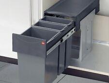 Hailo Terzett 15 + 2 x 7 Liter Einbau Mülleimer Küche Mülltrennsystem